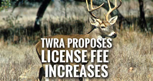 twra proposes increases to hunting and fishing license